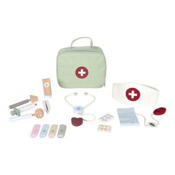 Lægetaske m udstyr