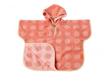 Matty poncho, 60x100, Coral/Pink